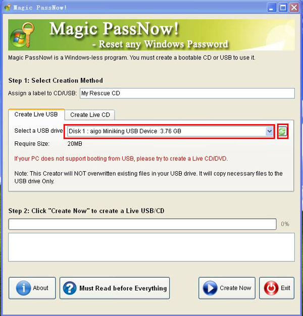 bootable usb for windows 7 password reset